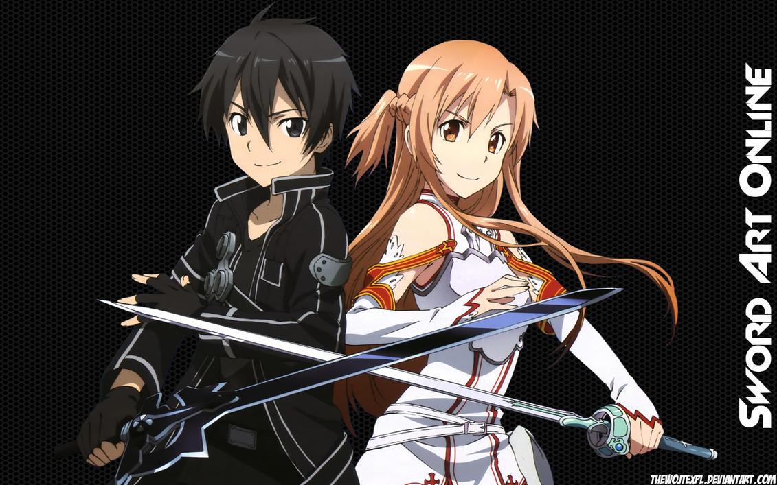 Sword art online kirito x asuna by thewojtexpl on deviantart
