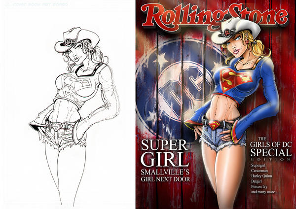 Supergirl Rolling Stone combo by jamietyndall