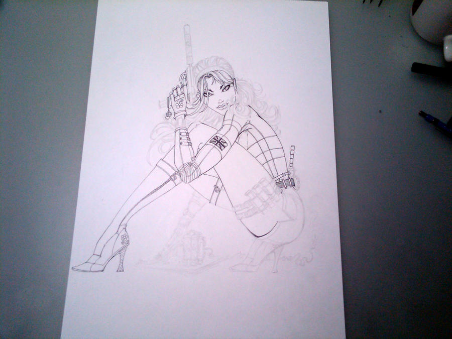 In progress - 60s pinup by jamietyndall