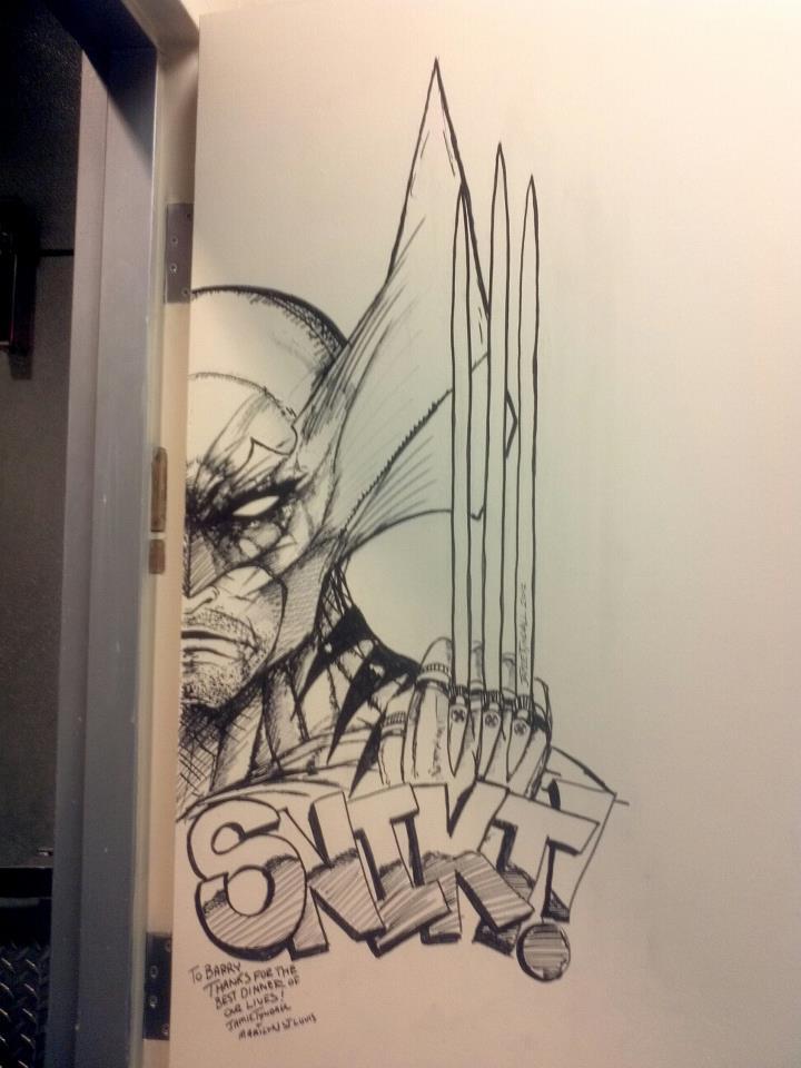 Wolverine Door art at the N9ne in Vegas by jamietyndall ... & Wolverine Door art at the N9ne in Vegas by jamietyndall on DeviantArt