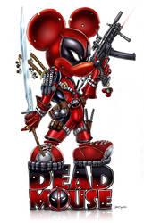 DEADMOUSE = Deadpool + Mickey by jamietyndall
