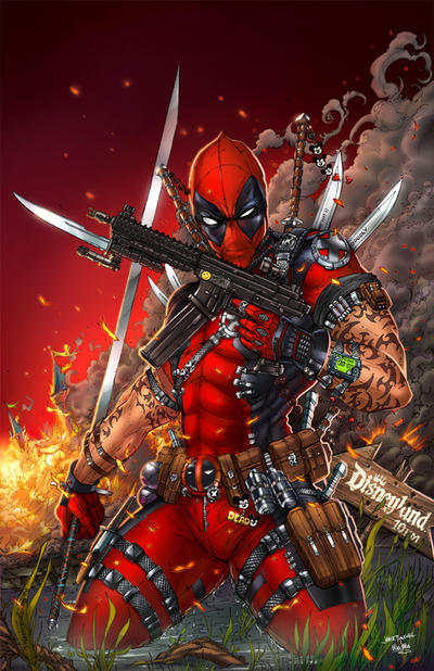 Deadpool VS Disneyland Colors by jamietyndall