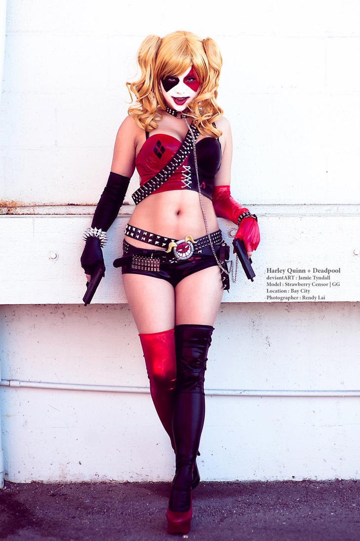 Harley Quinn Cosplay based on my Drawing. by jamietyndall