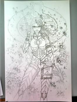 GIJOE Baroness Inks - in progress