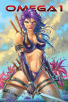 Omega 1 issue #1 variant cover with Nei Ruffino