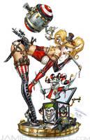 Steampunk Harley Quinn by jamietyndall