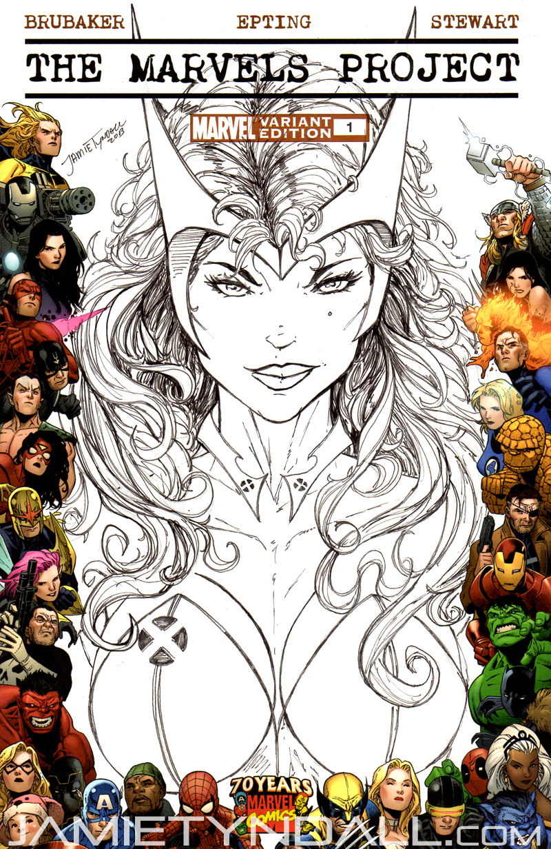 Scarlet Witch - sketch cover commission by jamietyndall