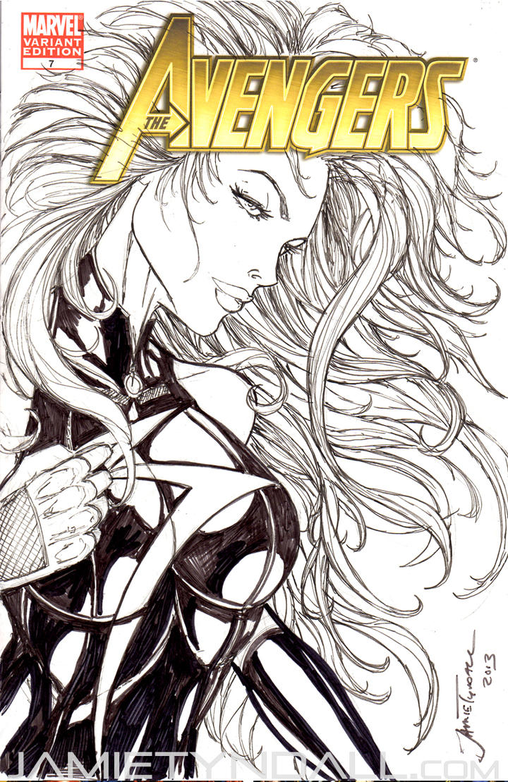 Sketch Cover - Miss Marvel by jamietyndall