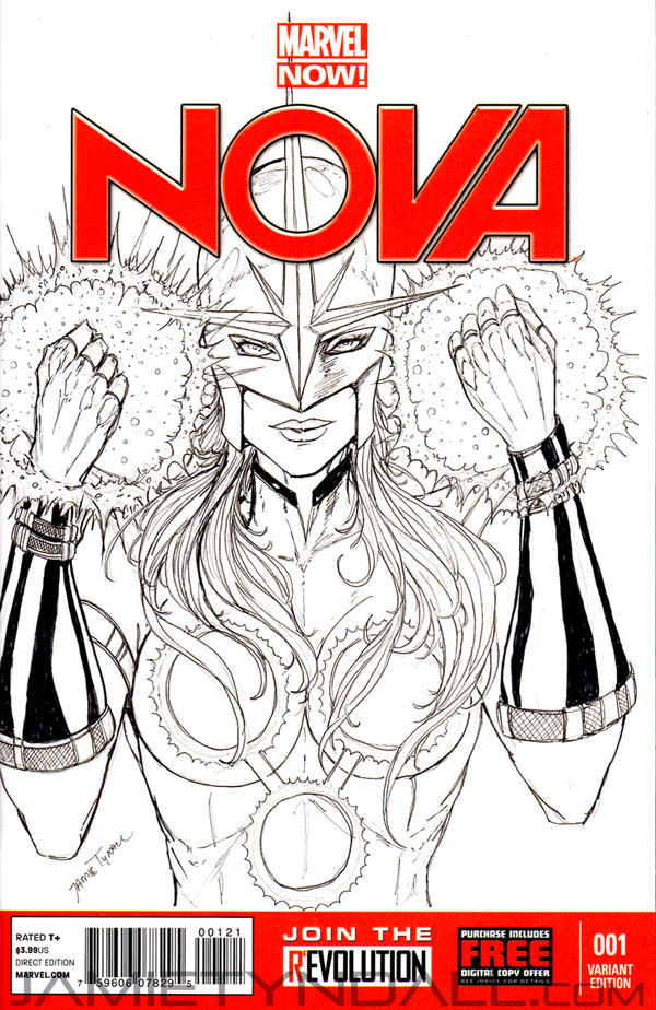 Nova Sketch Cover by jamietyndall