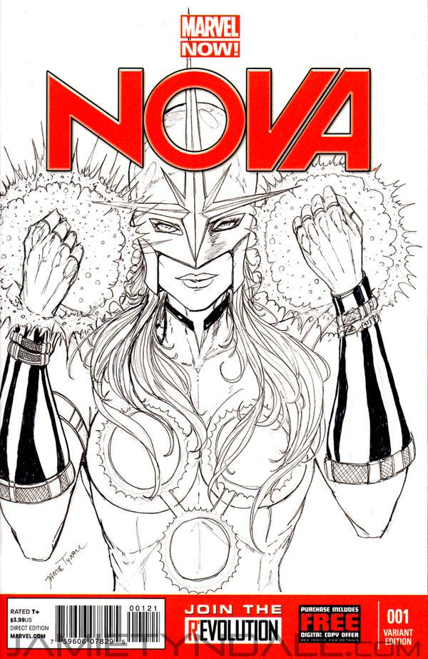 Nova Sketch Cover by jamietyndall