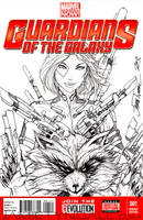 Gamora Guardians of the Galaxy Sketch Cover by jamietyndall
