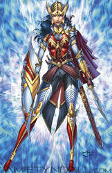 Wonder Woman in elven armor - colors