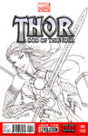 Thor Girl Sketch Cover Commission