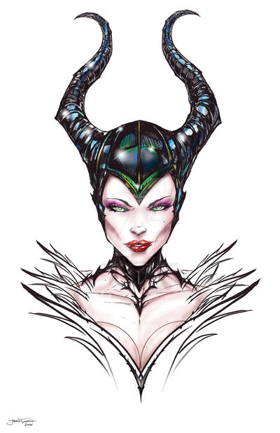 Malificent Portrait by jamietyndall