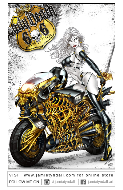 Ladydeath Motorbike by jamietyndall