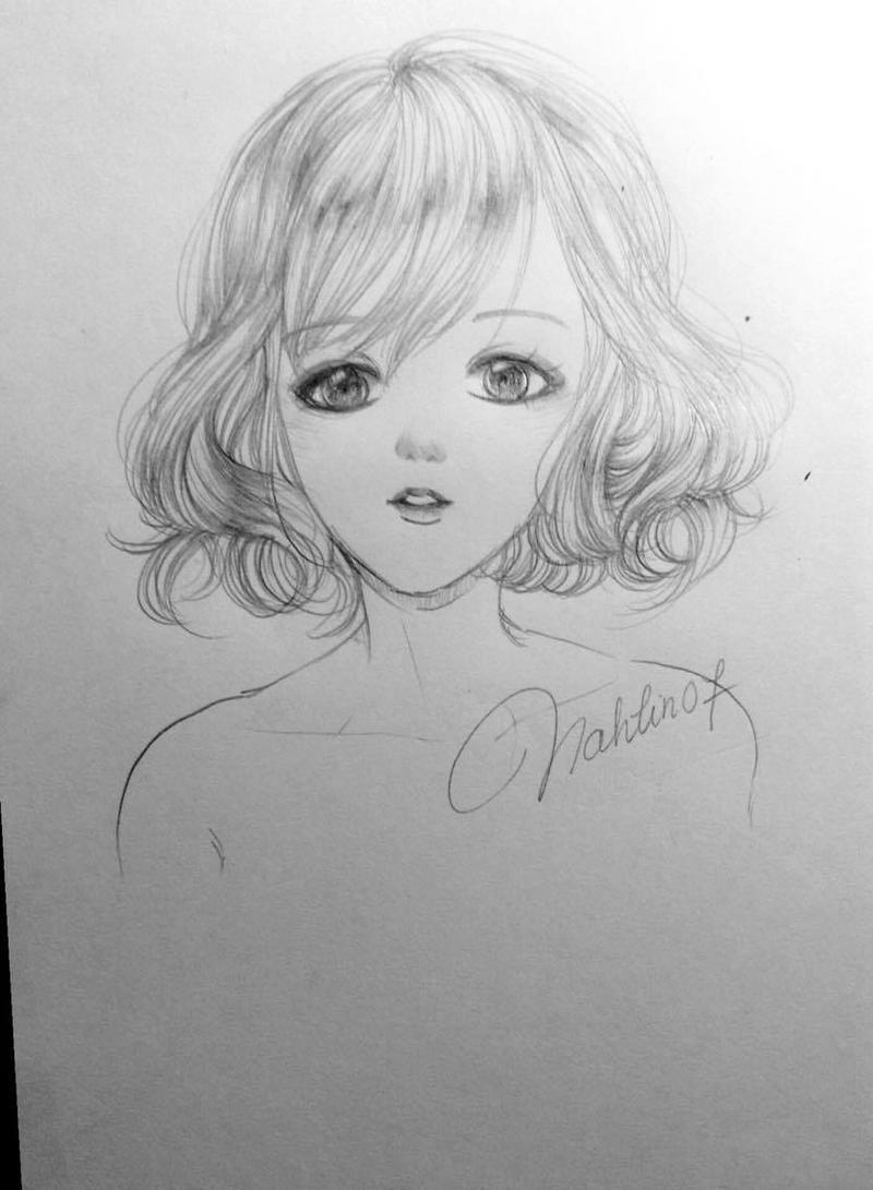 Short Curly Hair Sketch By Nahlin07 On Deviantart