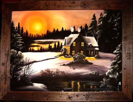 Winter Twilight Framed