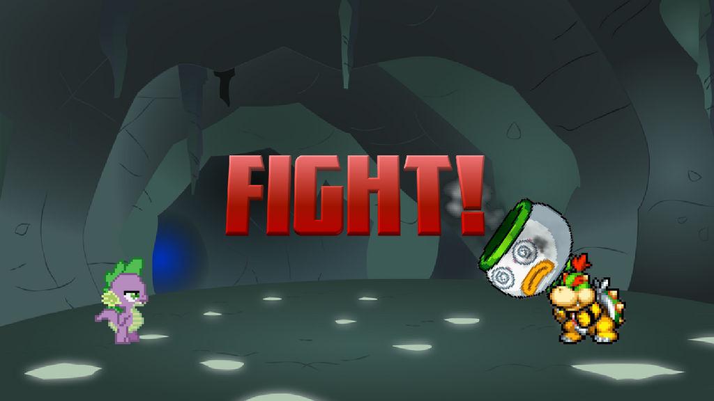 Spike vs Bowser Jr | Fight! (Part 1/2) by m3Atl0afman on DeviantArt