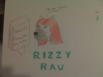 Rizzy Rau badge