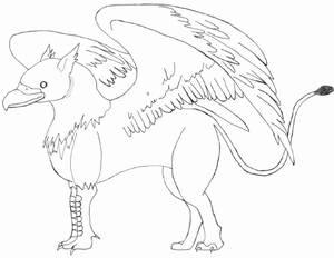 Inked Griffin Sketch