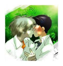 kaworu and shinjii by darkglow666
