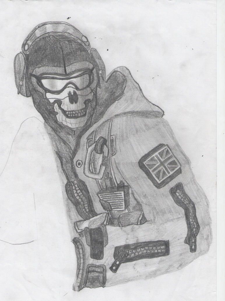 Call of duty ghost mask drawing