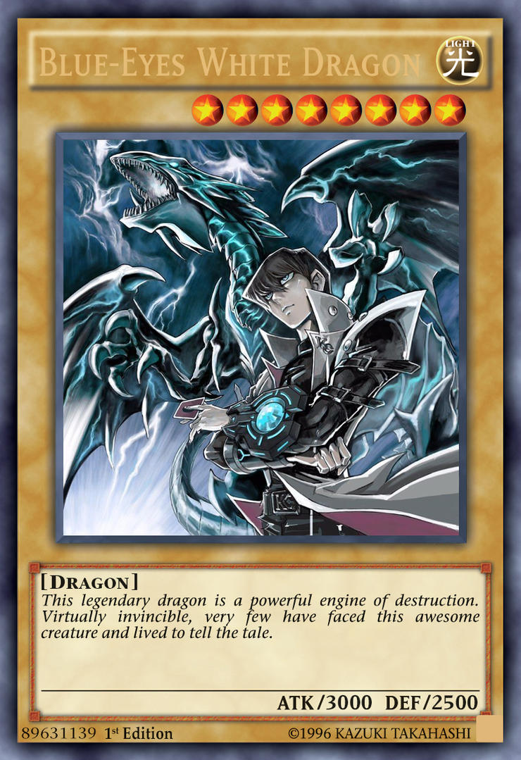 Blue-Eyes White Dragon (Alt artwork, fanmade card) by ...