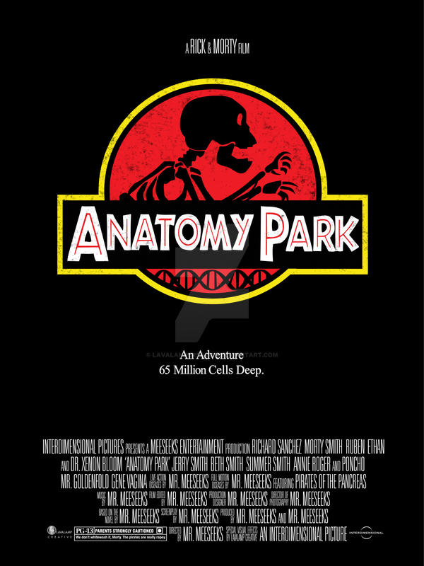 Anatomy Park - Rick and Morty parody movie poster by ...