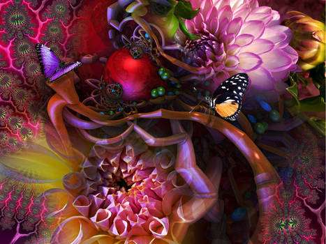 More from my Floral-Botanical Fractal Series...