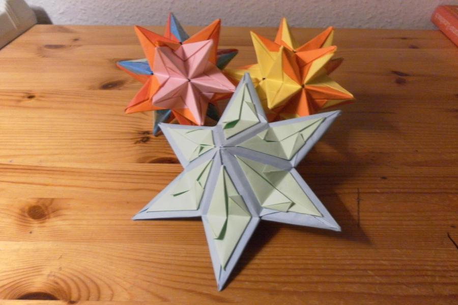 Star Origamis by fleecyblue