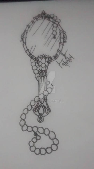 hand mirror sketch. Vintage Hand Mirror Tattoo Commision By Faye24 Sketch R