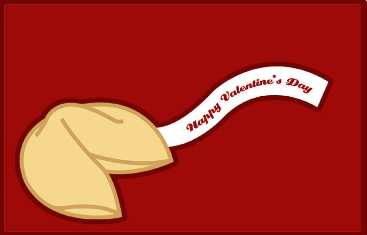 valentine fortune cookie by karineko