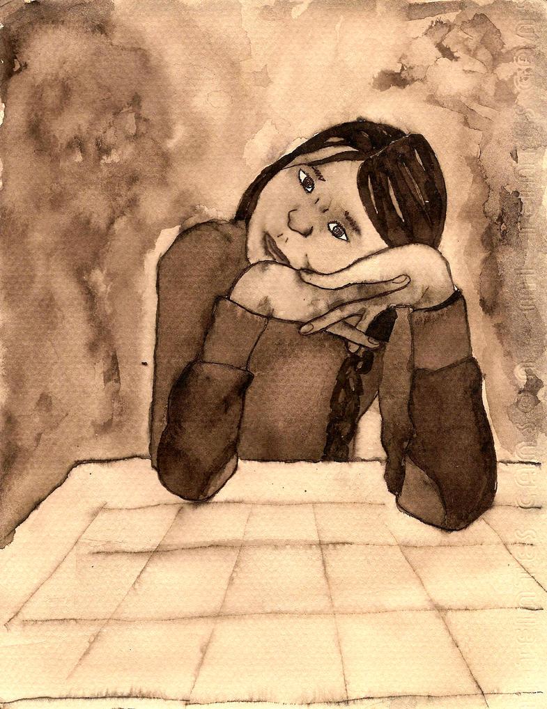 Frida esperando by yehecatl