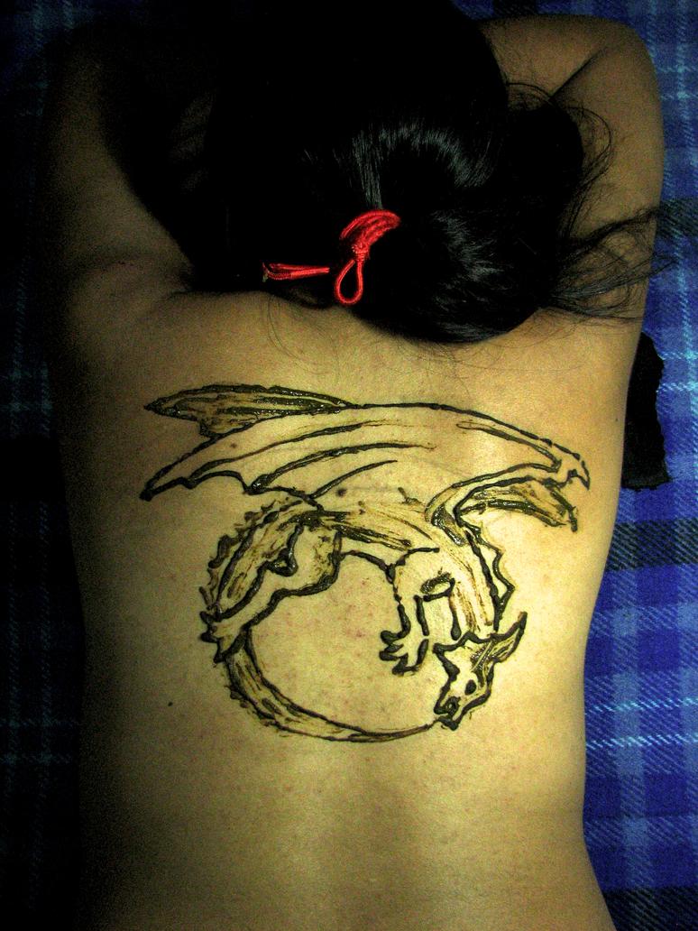 Dragon Auroboros, tattoo by yehecatl