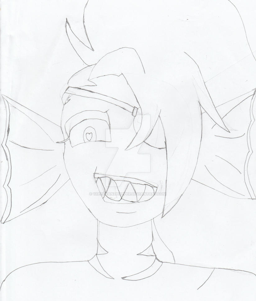 Undyne Face Drawing from Undertale by 12313franzhopper