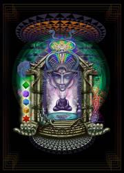 Alien alchemist burner's psychedelic dream temple
