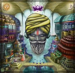 Sadhu listening ambient sounds