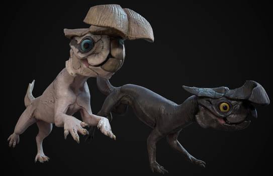 Alien rodent  - Melanistic and Leucistic run