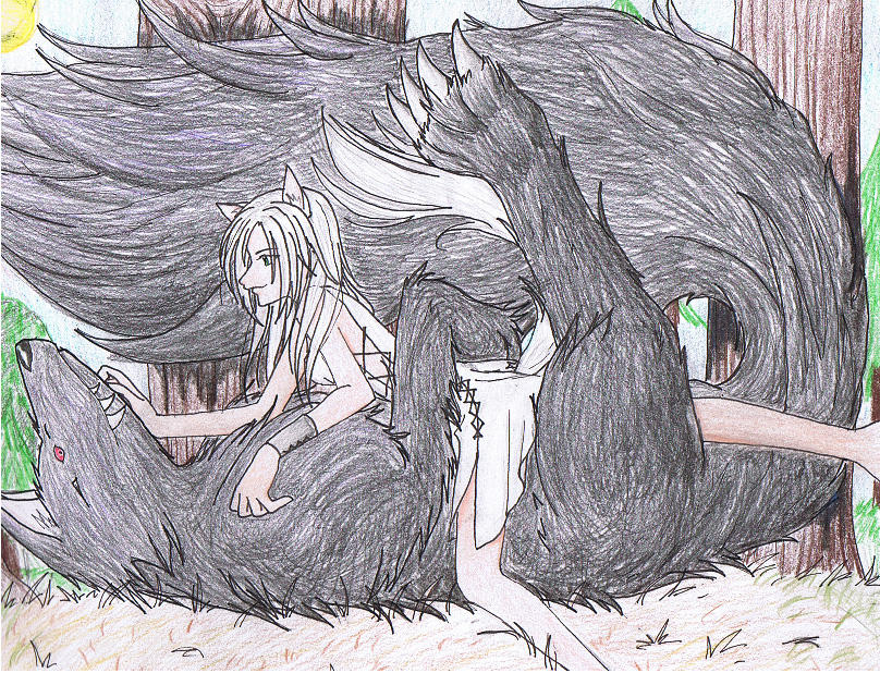 Demon Wolf And Girl By Kawaii Rose On Deviantart