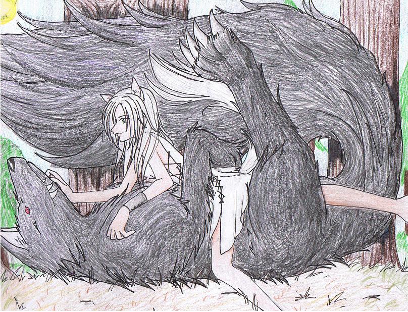 Wolves having sex