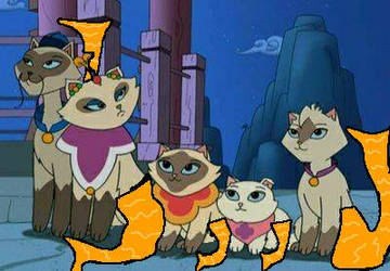 Request sagwa the chinese siamese Mer-cats by f1master45