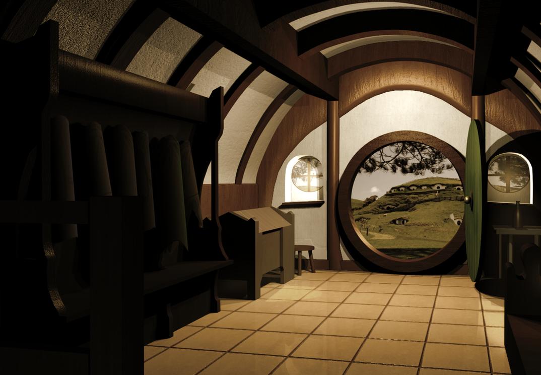 Interior Of A Hobbit 39 S Home By Sqwarlock On Deviantart