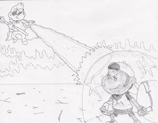 Battle Royal - Mike vs SuperCrash by MrNintMan