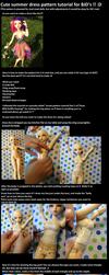 Cute BJD summer dress pattern tutorial! :D by Aabenhuus