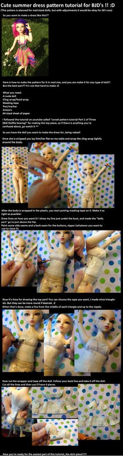 Cute BJD summer dress pattern tutorial! :D
