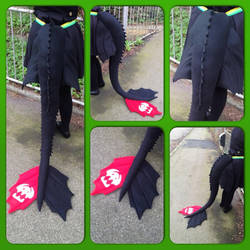 Toothless tail - Httyd 2 design
