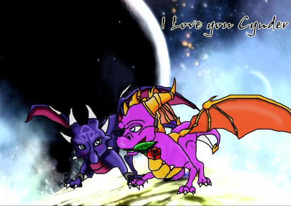 Spyro X Cynder 4ever by shadowlovesrouge