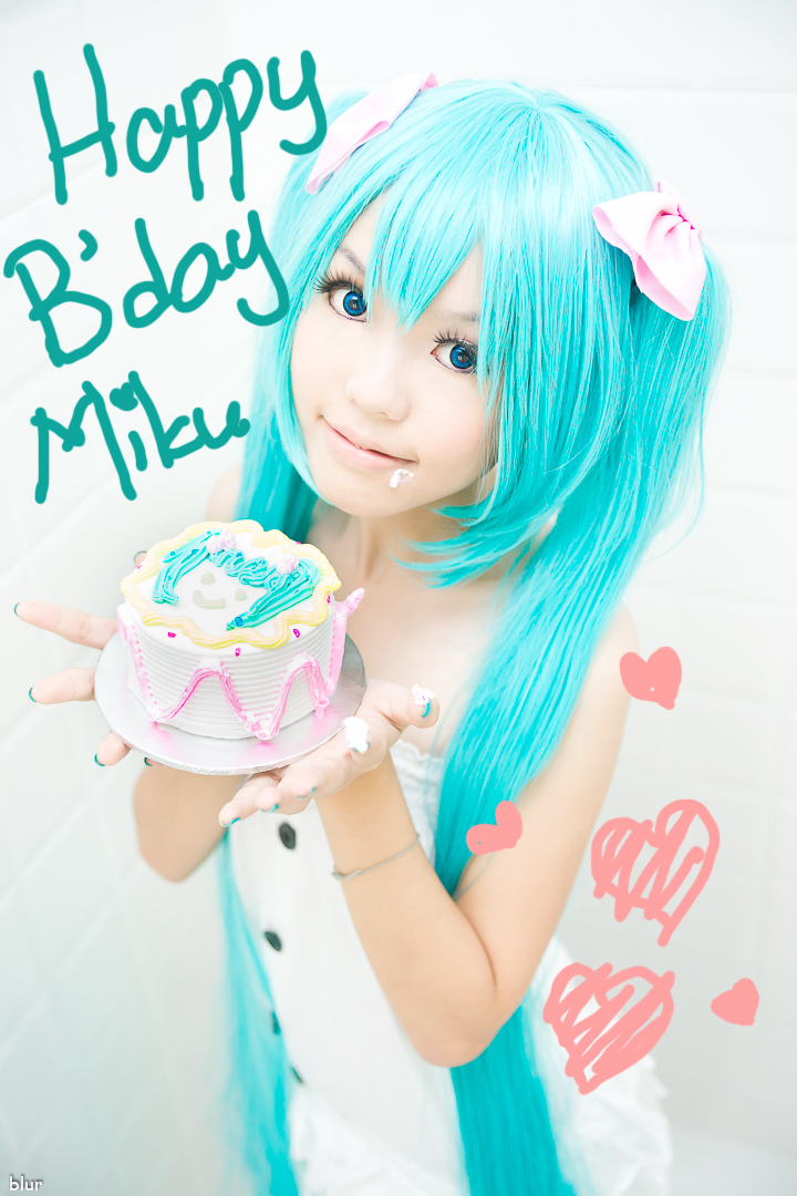 happy bday miku by angie0-0