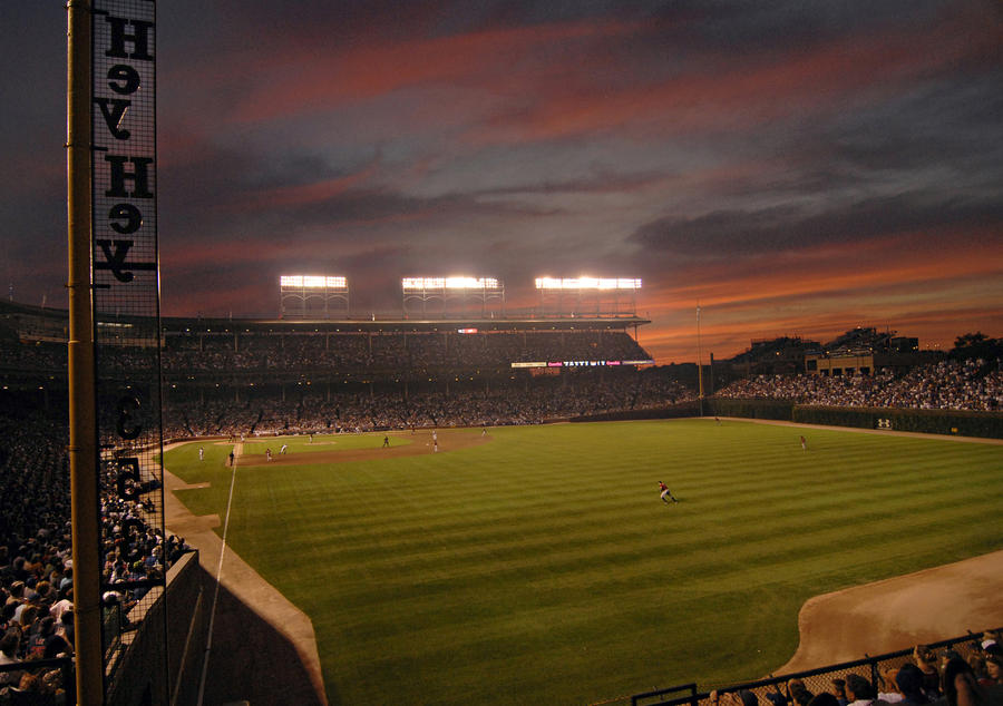 gallery for wrigley field sunset wallpaper