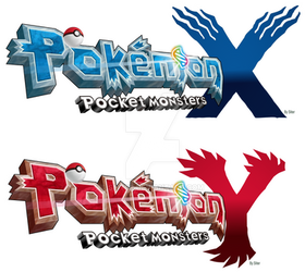 Pokemon -PocketMonsters X Y logo translation style by Sliter